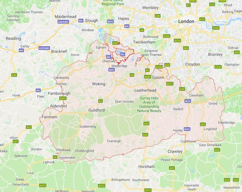 Surrey Google Maps